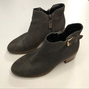 Cole Haan Harrington Gray Suede Boots Size 5.5